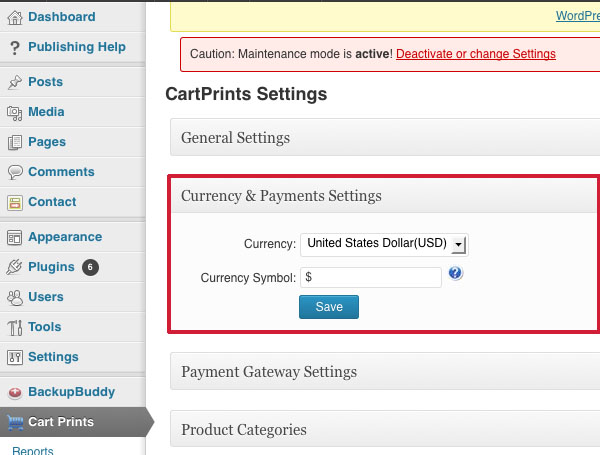 Cart Prints Dashboard 6
